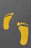 Feet symbol Royalty Free Stock Photo