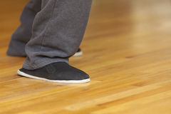 Feet of Tai Chi practitioner  Royalty Free Stock Photos