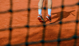 Feet of a tennis player Royalty Free Stock Photography