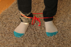 Feet Tied with String Royalty Free Stock Images