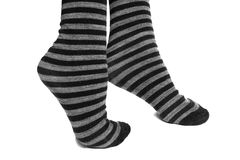 Feet on tiptoe. With socks Stock Images