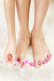Feet in toe separators Royalty Free Stock Photography