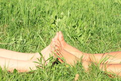 Feet touching Royalty Free Stock Photography