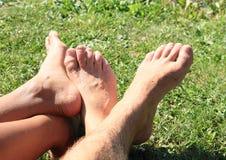 Feet touching Royalty Free Stock Photo