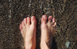 Feet under water Royalty Free Stock Image