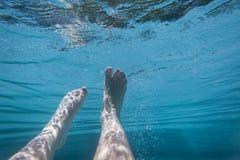 Feet Underwater Pool Stock Images