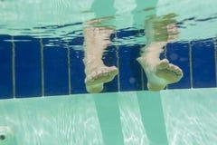 Feet Underwater Pool Stock Photography