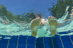 Feet Underwater View Stock Images
