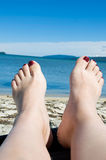 Feet at vacation Stock Photo