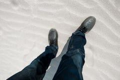 Feet in walking Stock Photography