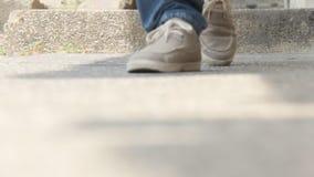 Feet Walking On Steps