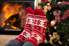 Feet warming Stock Images