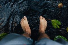 Feet in water Stock Image