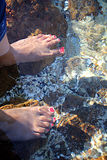 Feet in water Royalty Free Stock Photo