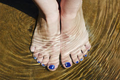 Feet in water Royalty Free Stock Photos