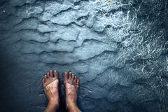 Feet in water Stock Photos