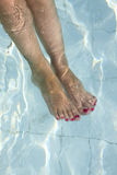Feet in the water Stock Photos