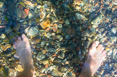 Feet in the water Stock Images