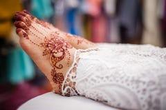Feet wearing Henna Stock Photos