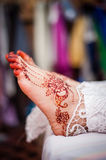 Feet wearing Henna Stock Images