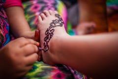 Feet wearing Henna Royalty Free Stock Photos