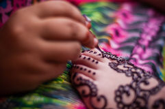 Feet wearing Henna Royalty Free Stock Images