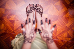 Feet wearing Henna Royalty Free Stock Photo