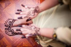 Feet wearing Henna Stock Image