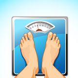 Feet on Weighing Machine Stock Photography