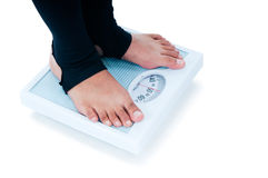 Feet On Weighing Scale Royalty Free Stock Photo