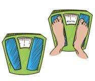 feet on weight scales. healthy weight. vector illu vector illustration