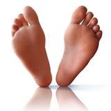 Feet on White Stock Photos
