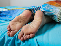 Feet Woman Sleeping Royalty Free Stock Photos