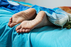 Feet Woman Sleeping Royalty Free Stock Image