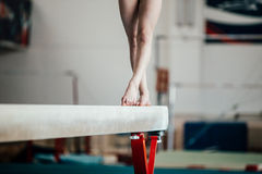 Feet young girl athlete gymnast Royalty Free Stock Image