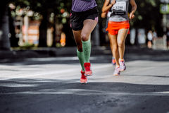 Feet young woman athletes Royalty Free Stock Photography