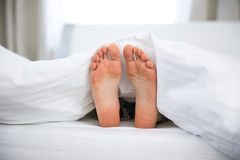 Feet of a young woman Royalty Free Stock Images