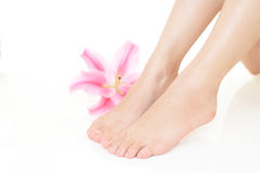 Feet of young woman Royalty Free Stock Photos