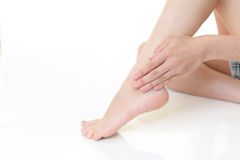 Feet of young woman Royalty Free Stock Photo