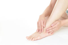 Feet of young woman Royalty Free Stock Image