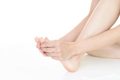 Feet of young woman Royalty Free Stock Images