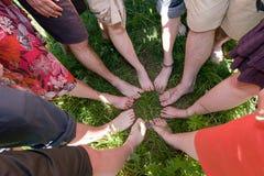 Feets en un círculo imágenes de archivo libres de regalías