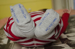feets of  first new born baby Royalty Free Stock Image
