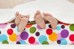 A feets of litlle children Royalty Free Stock Photography