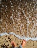 Feets sur l'eau Image libre de droits