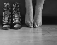 Feets woman Stock Photo
