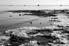 Feezing sea. Freezing cold sea, winter's begining Stock Image
