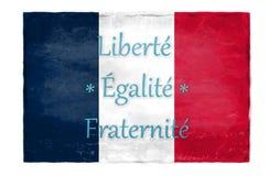 FEF на фоне французского флага Стоковое Фото
