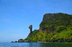 Feg ö på Krabi Thailand Arkivfoton