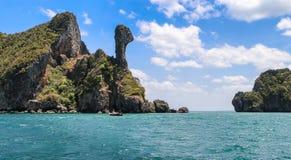 Feg ö på Krabi, Thailand Arkivfoton